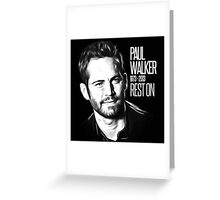 In Memoriam Paul Walker Greeting Card