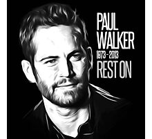 In Memoriam Paul Walker Photographic Print