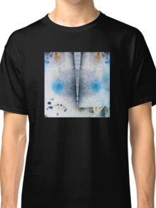 Abstract Unique Graphic ink design in blue and gold Classic T-Shirt