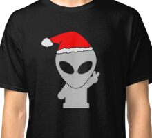 Alien Wearing Santa Hat Classic T-Shirt