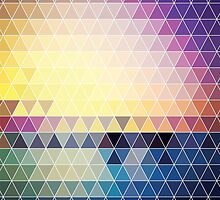 Abstract geometric colorful background, pattern design by BlueLela