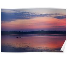 Sunrise on the Lake Poster
