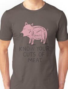 Vegan T-shirt - Know your Cut of Meat shirt  Unisex T-Shirt