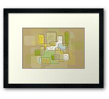 Retro Cityscape Framed Print