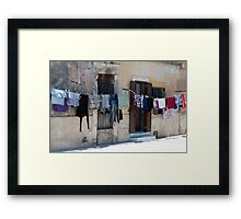 Washday on the Plaza Framed Print