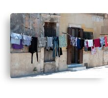 Washday on the Plaza Canvas Print
