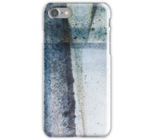 Modern Abstract ink pattern Design in blue and grey iPhone Case/Skin