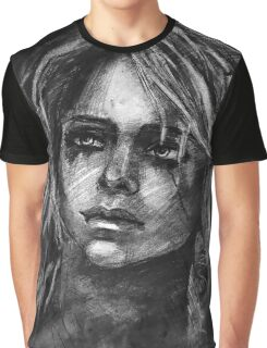 Ciri from Witcher  Graphic T-Shirt
