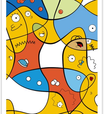 Mixed Up - The Simpsons Sticker