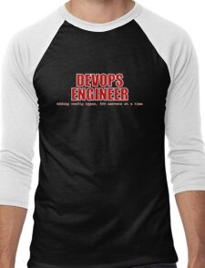 Devops Engineer (Red) Men's Baseball ¾ T-Shirt