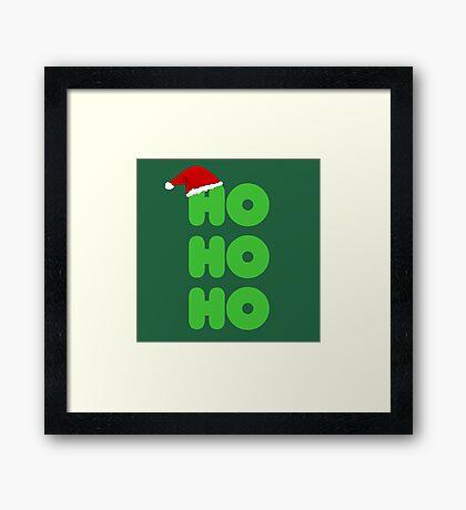Ho Ho Ho Christmas Framed Print
