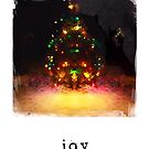 Joy - Holiday Card by Barbara Storey