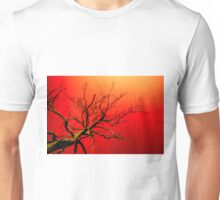 Red Branches of Crimson Dreams Unisex T-Shirt