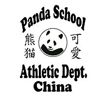 Athletic Panda Photographic Print