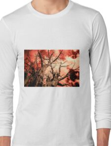 The Reaching - Tree Abstract of Life and Sky Long Sleeve T-Shirt