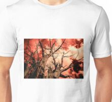 The Reaching - Tree Abstract of Life and Sky Unisex T-Shirt