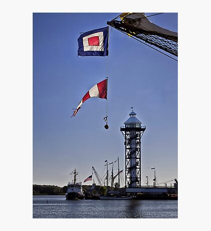 Flags Over Dobbin's Landing - Erie, PA Photographic Print