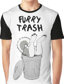 Furry Trash - Gray Husky/Malamute Graphic T-Shirt