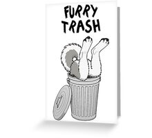 Furry Trash - Gray Husky/Malamute Greeting Card