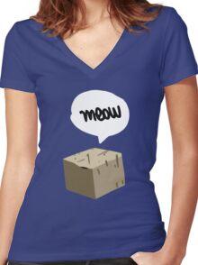 Warren Graham - Meow Box Women's Fitted V-Neck T-Shirt