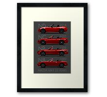 Mazda MX-5 25 years Framed Print