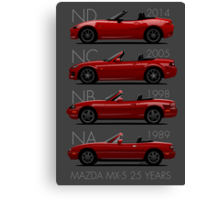 Mazda MX-5 25 years Canvas Print