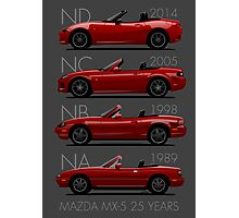 Mazda MX-5 25 years Photographic Print