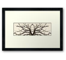 Tree Abstract in Brown Framed Print