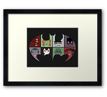 Bat Villains Framed Print