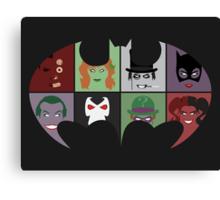 Bat Villains Canvas Print