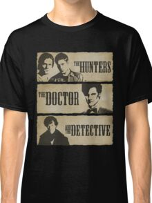 The Hunters, The Doctor and The Detective (Matt Smith version)  Classic T-Shirt