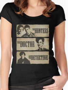 The Hunters, The Doctor and The Detective (Matt Smith version)  Women's Fitted Scoop T-Shirt