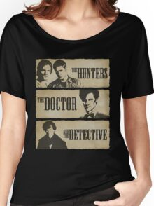 The Hunters, The Doctor and The Detective (Matt Smith version)  Women's Relaxed Fit T-Shirt