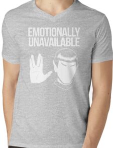 Emotionally Unavailable Mens V-Neck T-Shirt