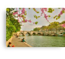So Much Beauty In Paris .. It's In Seine Canvas Print