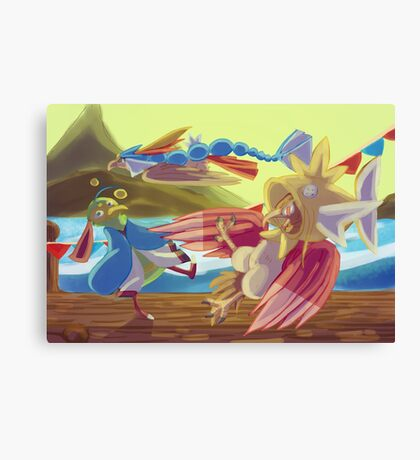 Flying-type Fish Festival Canvas Print