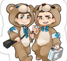 I'm a Doctor, not a Teddy Bear. Sticker