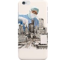 Operation (snip & Tie) Circomcised skyline iPhone Case/Skin