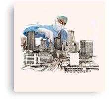 Operation (snip & Tie) Circomcised skyline Canvas Print