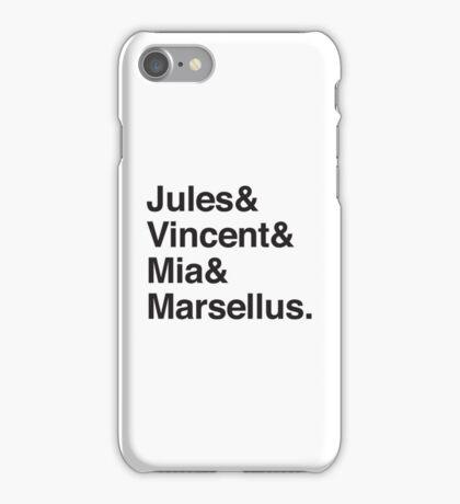 Jules & Vincent & Mia & Marsellus iPhone Case/Skin