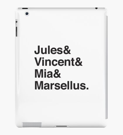 Jules & Vincent & Mia & Marsellus iPad Case/Skin