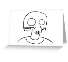 Tempered Robot Greeting Card