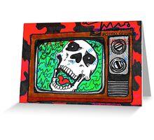 Skullovision Sticker Slap Greeting Card