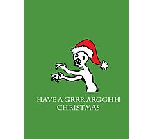 Grr Argh Christmas Photographic Print