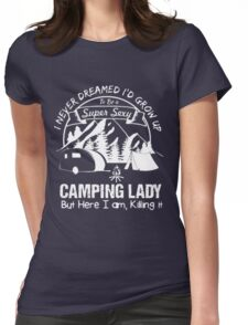 CAMPING LADY T-SHIRT Womens Fitted T-Shirt