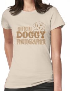 Official doggy photographer Womens Fitted T-Shirt