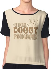 Official doggy photographer Chiffon Top