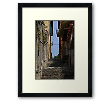 streets of a village typical Framed Print