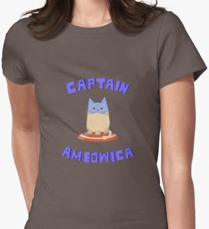 Captain Ameowica Womens Fitted T-Shirt