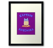Captain Ameowica Framed Print